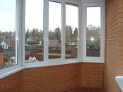 Застекление балконов,  лоджий. Окна пластиковые.